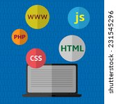 web design  coding and... | Shutterstock .eps vector #231545296