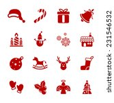 christmas icon set  vector... | Shutterstock .eps vector #231546532