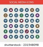 set of modern flat design... | Shutterstock . vector #231548098