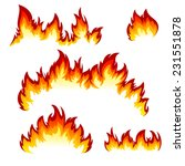 flames of different shapes on a ... | Shutterstock . vector #231551878