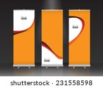 roll up banner stand design.... | Shutterstock .eps vector #231558598