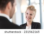 close up portrait of a smiling... | Shutterstock . vector #231562165