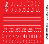 an illustration of musical... | Shutterstock . vector #231574552