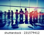silhouette people meeting... | Shutterstock . vector #231579412