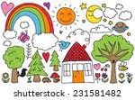 collection of cute kids'... | Shutterstock . vector #231581482