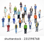 group of multiethnic diverse... | Shutterstock . vector #231598768