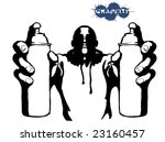graffiti hip hop vector person... | Shutterstock .eps vector #23160457