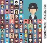 collection of avatars22    65... | Shutterstock .eps vector #231607258