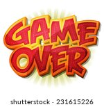 game over icon for ui game ... | Shutterstock .eps vector #231615226