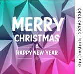 christmas typographic label for ... | Shutterstock .eps vector #231621382