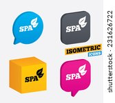 spa sign icon. spa leaves... | Shutterstock .eps vector #231626722