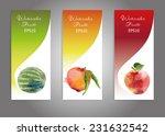 vector banner set of watercolor ... | Shutterstock .eps vector #231632542