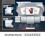 website design template menu... | Shutterstock .eps vector #231633322