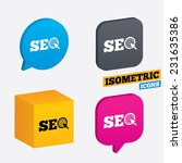 seo sign icon. search engine... | Shutterstock .eps vector #231635386