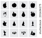 vector apple and pear icon set  ... | Shutterstock .eps vector #231636175