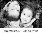 portrait of happy little sister ...   Shutterstock . vector #231637492