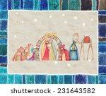 christmas nativity scene  jesus ... | Shutterstock . vector #231643582