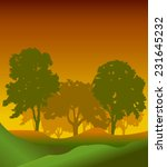 forest trees silhouettes...   Shutterstock .eps vector #231645232