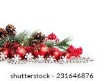 Red Christmas Tree And Balls O...