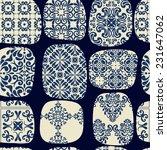 cracked tile pattern for... | Shutterstock .eps vector #231647062