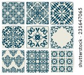 new collection of 9 ceramic... | Shutterstock .eps vector #231647065