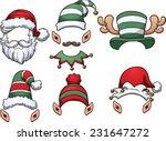 Cartoon Christmas Hats. Vector...