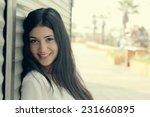 closeup portrait of beautiful... | Shutterstock . vector #231660895