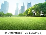 park in  lujiazui financial... | Shutterstock . vector #231663436