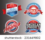 American Made In Usa Retro...