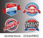 american made in usa retro... | Shutterstock .eps vector #231669802