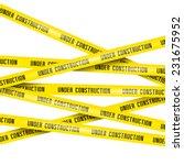 under construction ribbons | Shutterstock .eps vector #231675952