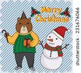 christmas day | Shutterstock .eps vector #231676066