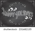 happy holidays greetings... | Shutterstock .eps vector #231682135
