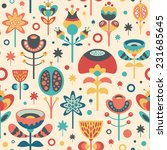 seamless pattern with colorful... | Shutterstock .eps vector #231685645