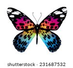 Stock photo color butterfly isolated on white 231687532