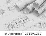 illustration of roll and flat... | Shutterstock . vector #231691282