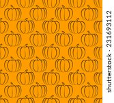 pumpkin seamless pattern  ...   Shutterstock .eps vector #231693112