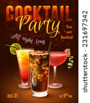 cocktail party poster with... | Shutterstock .eps vector #231697342