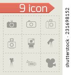 vector black camera icon set on ... | Shutterstock .eps vector #231698152