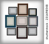 various color frame on white... | Shutterstock .eps vector #231698548