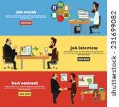 recruitment flat banner set... | Shutterstock .eps vector #231699082