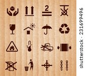 handling and packing icons set... | Shutterstock .eps vector #231699496