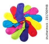 colorful socks in shape of... | Shutterstock . vector #231700948