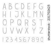 full hand drawn vector alphabet ...