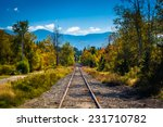 Railroad Track And Distant...