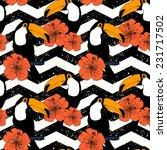 hand drawn seamless pattern... | Shutterstock .eps vector #231717502