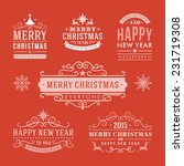 christmas decoration set of... | Shutterstock .eps vector #231719308