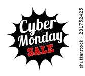 cyber monday sale grunge rubber ...   Shutterstock .eps vector #231752425