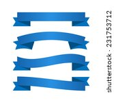 blue ribbons. vector available. | Shutterstock . vector #231753712