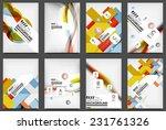 set of flyer templates ... | Shutterstock .eps vector #231761326